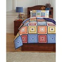 Ashley (Signature Design) Bedding Sets Twin Tazzoni Multi Coverlet Set - Item Number: Q744001T