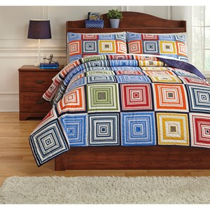 Signature Design by Ashley Bedding Sets Full Tazzoni Multi Coverlet Set