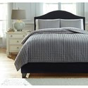 Signature Design by Ashley Bedding Sets Queen Teague - Gray Comforter Set - Item Number: Q748003Q