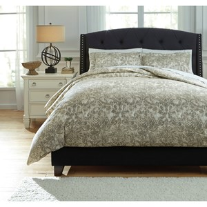 Queen Kelby Natural Duvet Cover Set