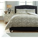 Signature Design by Ashley Bedding Sets King Kelby Natural Duvet Cover Set - Item Number: Q751003K