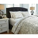 Signature Design by Ashley Bedding Sets King Kelby Natural Duvet Cover Set