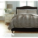 Signature Design by Ashley Bedding Sets Queen Voltos Brown Duvet Cover Set - Item Number: Q752003Q