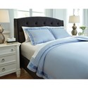 Signature Design by Ashley Bedding Sets King Faraday Soft Blue Duvet Cover Set