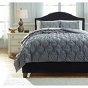 Signature Design by Ashley Bedding Sets King Rimy Gray Comforter Set - Item Number: Q756023K
