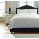 Signature Design by Ashley Bedding Sets Queen Bazek White Coverlet Set