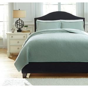 StyleLine Bedding Sets Queen Bazek Sage Green Coverlet Set