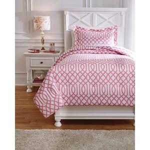 Twin Loomis Pink Comforter Set
