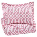 Signature Design by Ashley Bedding Sets Twin Loomis Pink Comforter Set