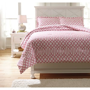 Signature Design by Ashley Bedding Sets Full Loomis Pink Comforter Set