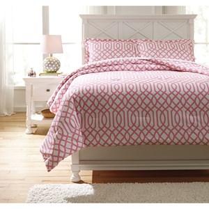Signature Design by Ashley Bedding Sets Full Loomis Pink Comforter Set