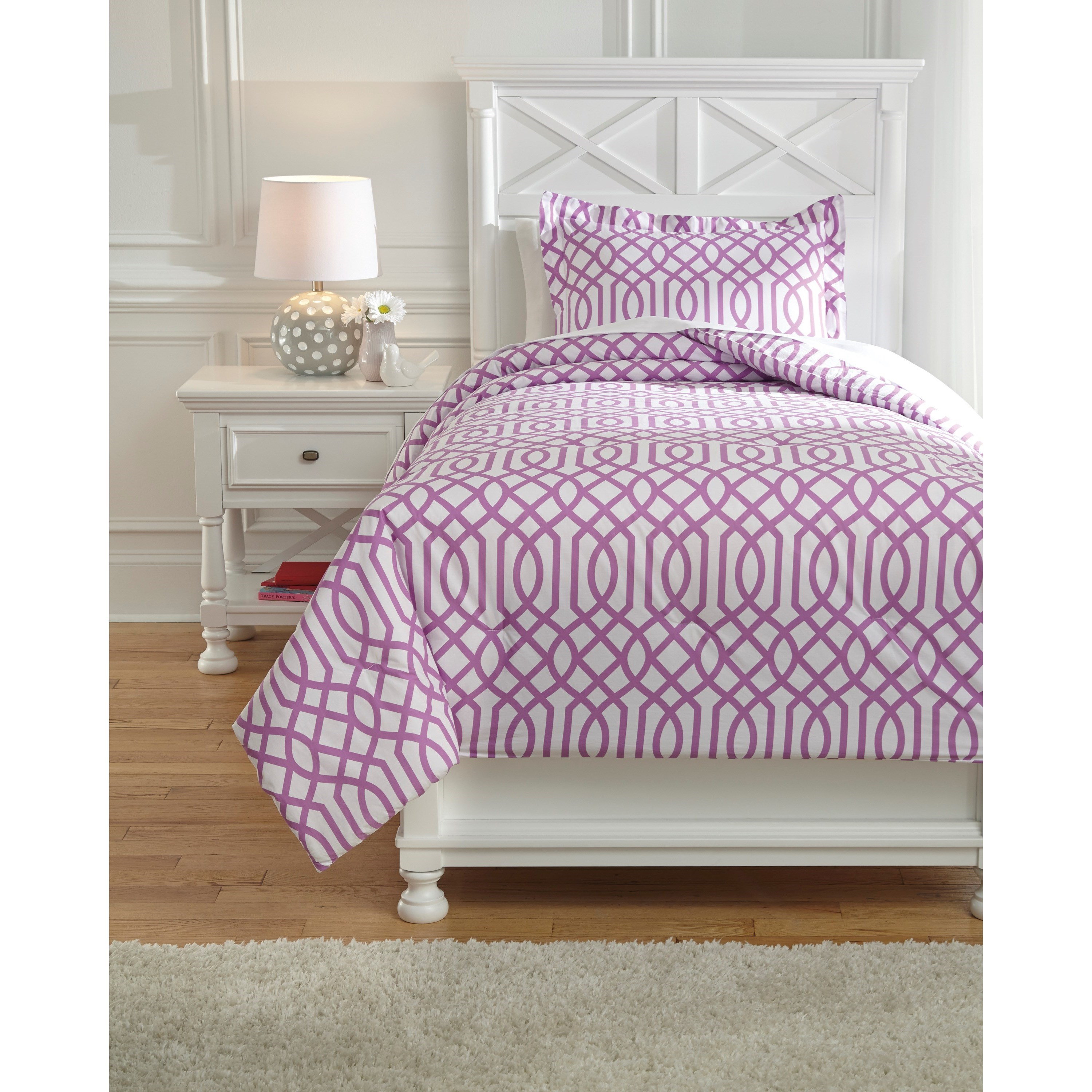 Bedding Sets Twin Loomis Lavender Comforter Set by Signature Design by Ashley at Zak's Warehouse Clearance Center
