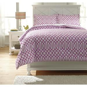 Signature Design by Ashley Bedding Sets Full Loomis Lavender Comforter Set