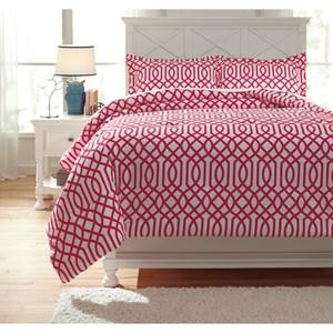 Signature Design by Ashley Bedding Sets Full Loomis Fuschsia Comforter Set