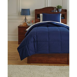 Signature Design by Ashley Bedding Sets Twin Plainfield Navy Comforter Set