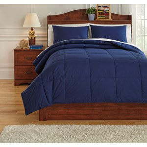 Signature Design by Ashley Bedding Sets Full Plainfield Navy Comforter Set