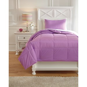 Signature Design by Ashley Bedding Sets Twin Plainfield Lavender Comforter Set