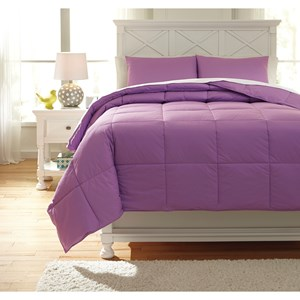 Signature Design by Ashley Bedding Sets Full Plainfield Lavender Comforter Set