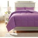 Ashley (Signature Design) Bedding Sets Full Plainfield Lavender Comforter Set - Item Number: Q759023F