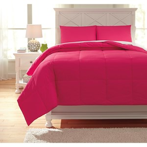 Signature Design by Ashley Bedding Sets Full Plainfield Magenta Comforter Set