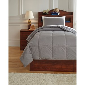 Signature Design by Ashley Bedding Sets Twin Plainfield Gray Comforter Set