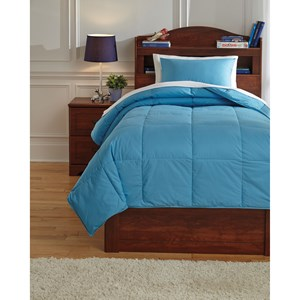 Signature Design by Ashley Bedding Sets Twin Plainfield Aqua Comforter Set