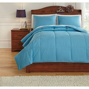 Signature Design by Ashley Bedding Sets Full Plainfield Aqua Comforter Set