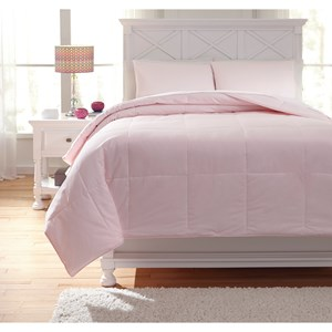 Signature Design by Ashley Bedding Sets Full Plainfield Soft Pink Comforter Set
