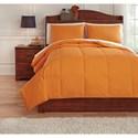 Ashley (Signature Design) Bedding Sets Full Plainfield Orange Comforter Set - Item Number: Q759083F