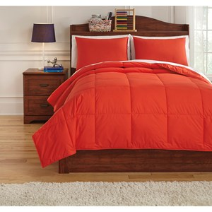 Signature Design by Ashley Bedding Sets Full Plainfield Red Comforter Set