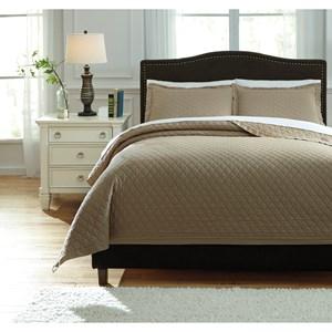 Ashley Signature Design Bedding Sets Queen Alecio Sand Quilt Set