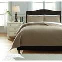 Ashley (Signature Design) Bedding Sets Queen Alecio Sand Quilt Set - Item Number: Q760033Q