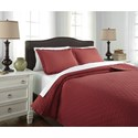 Signature Design by Ashley Bedding Sets King Alecio Red Quilt Set