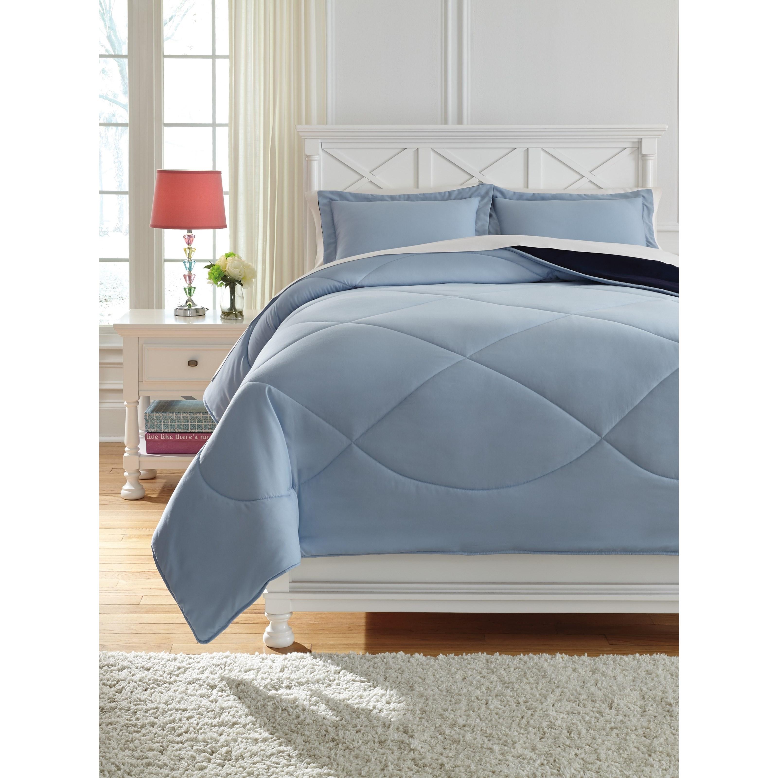 Full Massey Blue Comforter Set