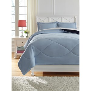 Signature Design by Ashley Bedding Sets Full Massey Blue Comforter Set