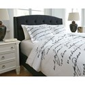 Signature Design by Ashley Bedding Sets King Amantipoint White/Gray Duvet Cover Set