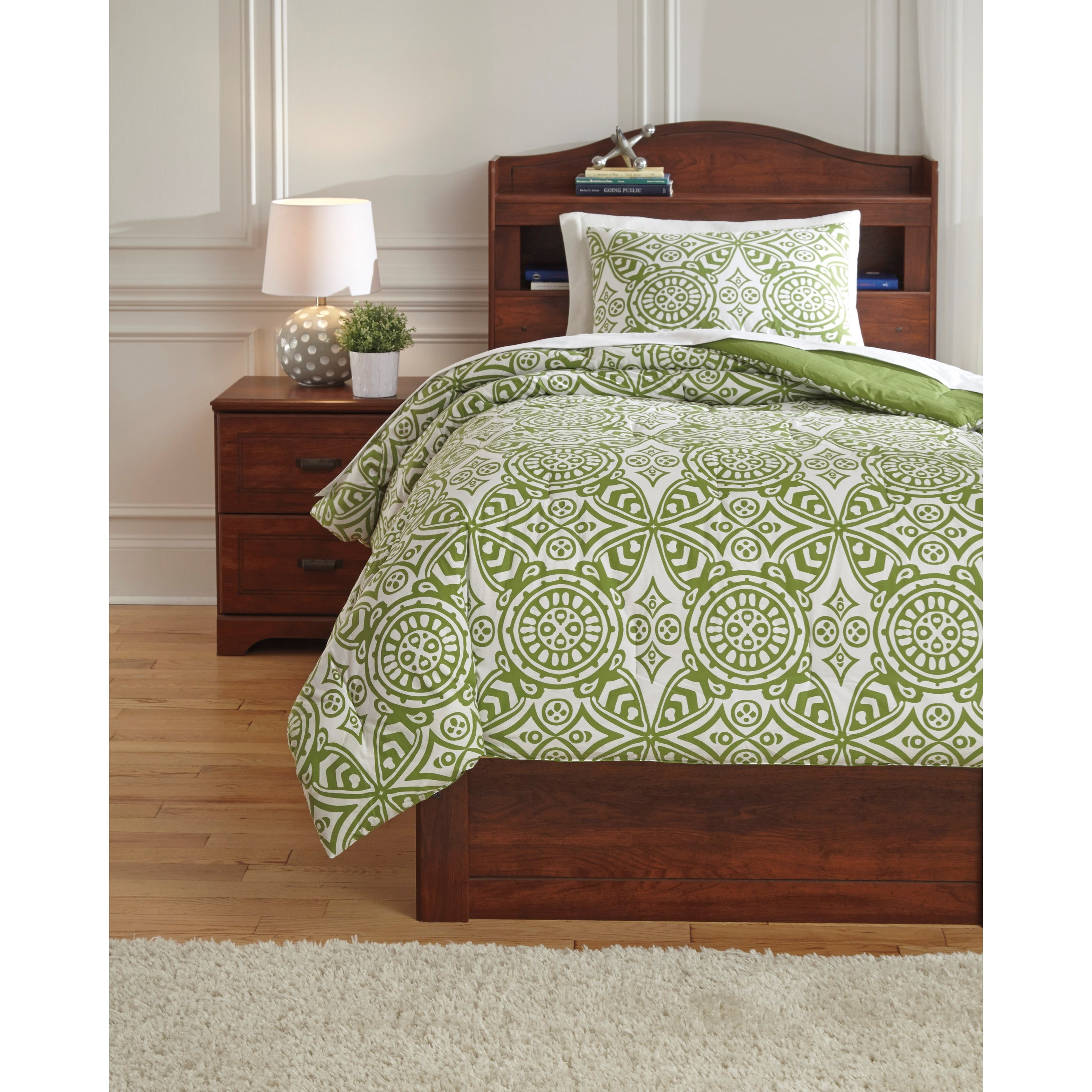 Signature Design By Ashley Bedding Sets Q766001t Twin Ina Green Comforter Set Beck 39 S Furniture