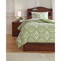 Ashley (Signature Design) Bedding Sets Twin Ina Green Comforter Set - Item Number: Q766001T