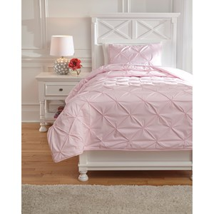 Signature Design by Ashley Bedding Sets Twin Medera Rose Comforter Set