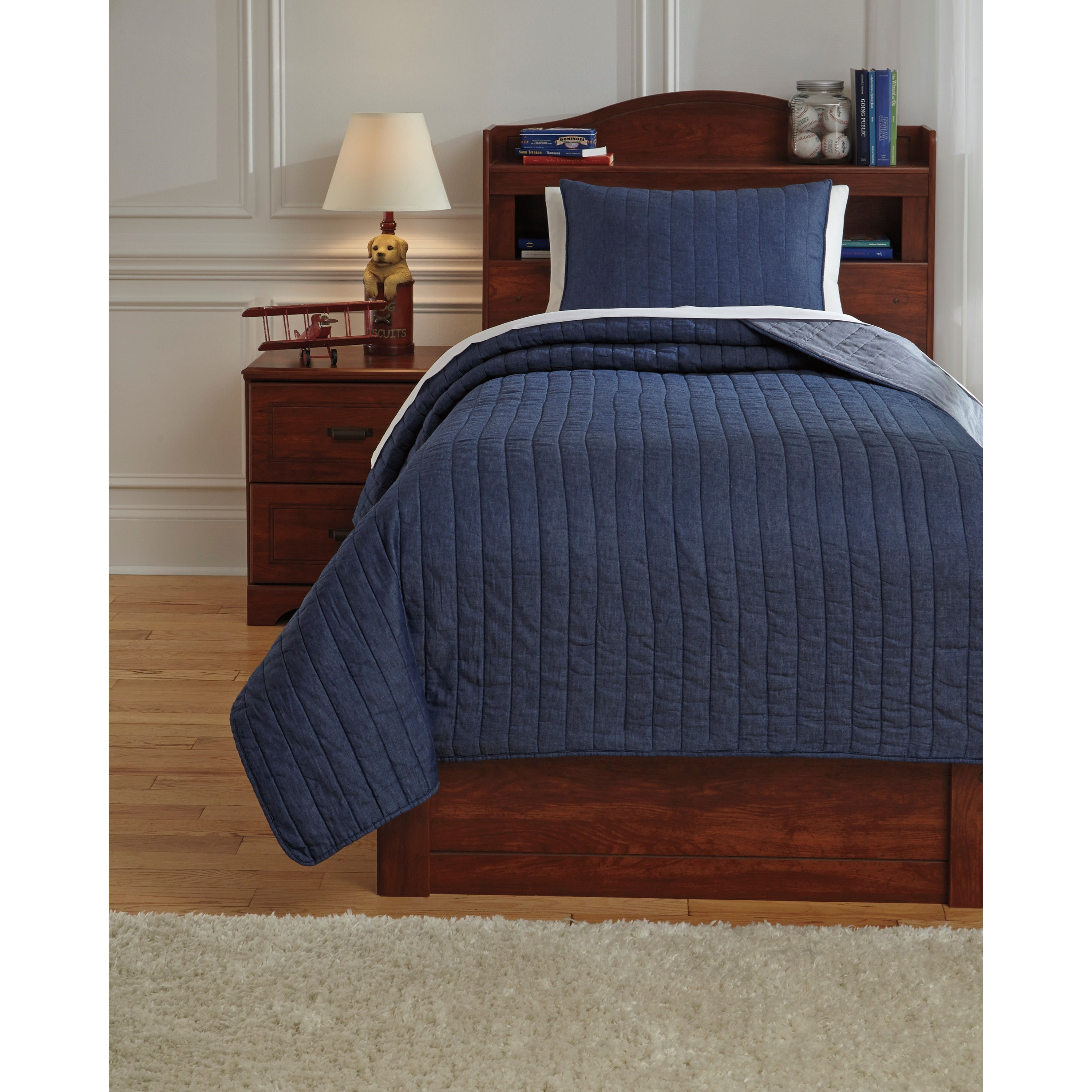 Twin Capella Denim Quilt Set