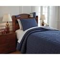 Signature Design by Ashley Bedding Sets Twin Capella Denim Quilt Set