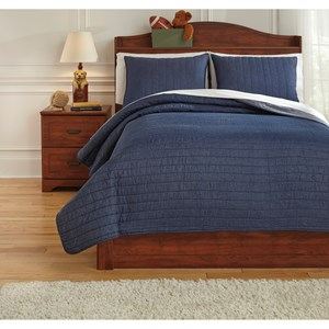 Full Capella Denim Quilt Set