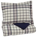 Signature Design by Ashley Bedding Sets Twin Derick Plaid Comforter Set