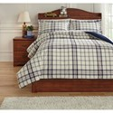Signature Design by Ashley Bedding Sets Full Derick Plaid Comforter Set - Item Number: Q774003F