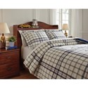 Signature Design by Ashley Bedding Sets Full Derick Plaid Comforter Set