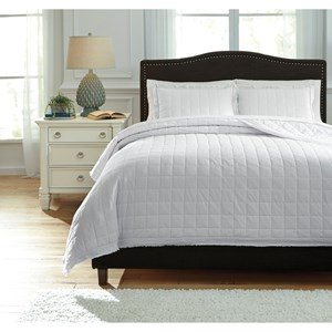 Signature Design by Ashley Bedding Sets Amare White Queen Coverlet Set