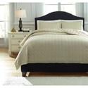 Ashley (Signature Design) Bedding Sets Queen Amare Sand Coverlet Set - Item Number: Q776033Q