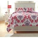 Ashley (Signature Design) Bedding Sets Full Ventress Berry Comforter Set - Item Number: Q777003F