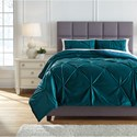 Signature Design by Ashley Bedding Sets Queen Meilyr Spruce Comforter Set - Item Number: Q778003Q