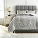 Trendz Bedding Sets Queen Noel Gray/Tan Comforter Set - Item Number: Q780003Q